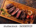 sliced steak ribeye with...   Shutterstock . vector #365085929