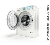 Opening Washing Machine On...