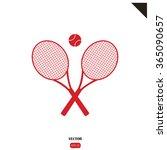tennis icon | Shutterstock .eps vector #365090657