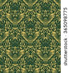 damask seamless pattern with... | Shutterstock .eps vector #365098775