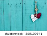 Skeleton Key  Red Rope Heart...