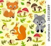 seamless pattern with wild... | Shutterstock .eps vector #365101889