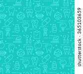 modern thin line icons seamless ... | Shutterstock .eps vector #365103659