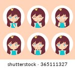 vector set of princess... | Shutterstock .eps vector #365111327