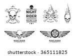 racing skull emblems vector set  | Shutterstock .eps vector #365111825