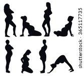illustration of a pregnant... | Shutterstock .eps vector #365117735