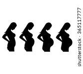 illustration of a pregnant... | Shutterstock .eps vector #365117777