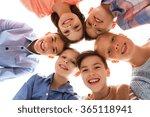 happy smiling children faces | Shutterstock . vector #365118941