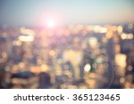 defocused blur across urban... | Shutterstock . vector #365123465