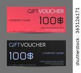 gift voucher template   vector... | Shutterstock .eps vector #365126171
