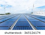 Solar Panels On Factory Roof
