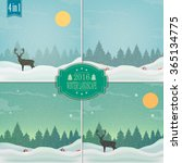winter background. new year and ... | Shutterstock .eps vector #365134775