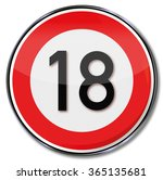 legal age and birthday number...   Shutterstock .eps vector #365135681