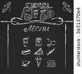 street food menu  logo and icon ... | Shutterstock .eps vector #365137064