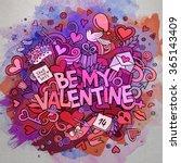 cartoon vector hand drawn... | Shutterstock .eps vector #365143409