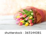 bouquet of tulips on the table | Shutterstock . vector #365144381