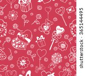 seamless doodle pattern for... | Shutterstock .eps vector #365144495