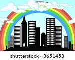 city 3 | Shutterstock .eps vector #3651453