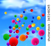 sky background with colorful... | Shutterstock .eps vector #365148245