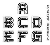 vector real maze alphabet font... | Shutterstock .eps vector #365150705