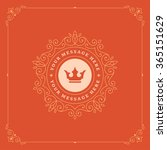 royal logo design template.... | Shutterstock .eps vector #365151629