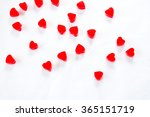 red jelly hearts on a white... | Shutterstock . vector #365151719