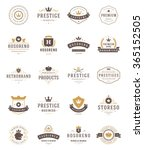 Vintage Crowns Logos Set....