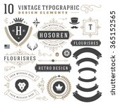 vintage design elements. arrows ... | Shutterstock .eps vector #365152565
