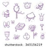set of fairy princess... | Shutterstock .eps vector #365156219