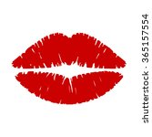 Lipstick Kiss Vector...