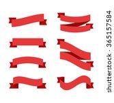 flat vector ribbon labels set.  | Shutterstock .eps vector #365157584
