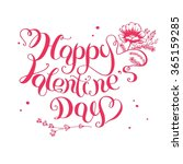 the lettering   happy valentine'... | Shutterstock .eps vector #365159285