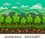 vector cartoon forest seamless...