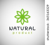 natural product logo design... | Shutterstock .eps vector #365163329