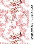 spring flowers branch pattern | Shutterstock . vector #365167655