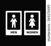 restroom sign   Shutterstock .eps vector #365170595