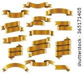 golden web ribbons  vector...   Shutterstock .eps vector #365171405