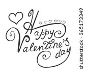 happy valentine's day card with ... | Shutterstock .eps vector #365173349