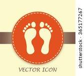 vector illustration foot | Shutterstock .eps vector #365177267