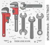 wrench icons. thin lines....   Shutterstock .eps vector #365178635
