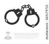icon handcuffs. vector... | Shutterstock .eps vector #365179721