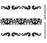 set of vintage borders  baroque ... | Shutterstock .eps vector #365184281