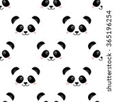 cute panda face. seamless... | Shutterstock .eps vector #365196254