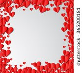 valentines day card with... | Shutterstock .eps vector #365200181