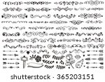 set of vintage sketch elements. ... | Shutterstock .eps vector #365203151