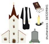 vector illustration prayer... | Shutterstock .eps vector #365209841