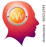 brain epilepsy activity  ... | Shutterstock .eps vector #365212595