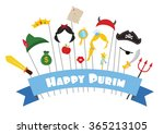 happy purim. prince and... | Shutterstock .eps vector #365213105
