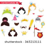 kids paper cut outs with prince ... | Shutterstock .eps vector #365213111