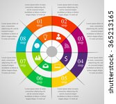 circle infographic template... | Shutterstock .eps vector #365213165
